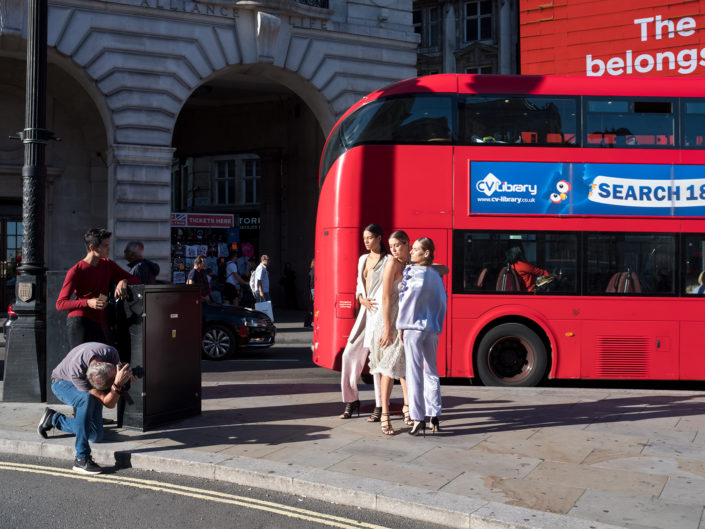 Piccadilly Circus, London by street photographer Nick Turpin