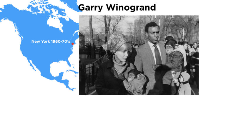 Garry Winogrand, one of the photographers featured in The New Documents Exhibition