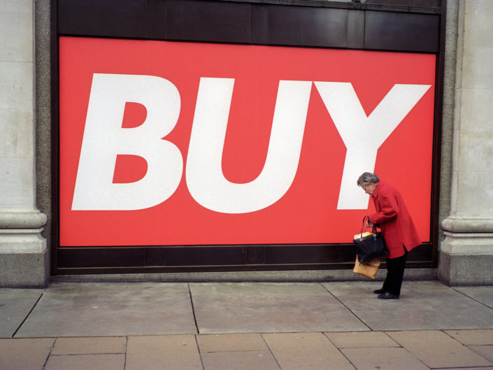 Oxford Street Street Photograph by Street Photographer Nick Turpin