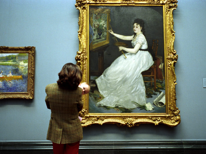 Untitled Gallery Scene, National Gallery, London by Nick Turpin