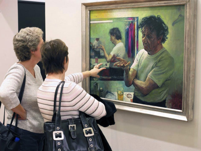 Untitled Gallery Scene, National Portrait Gallery, London by Nick Turpin