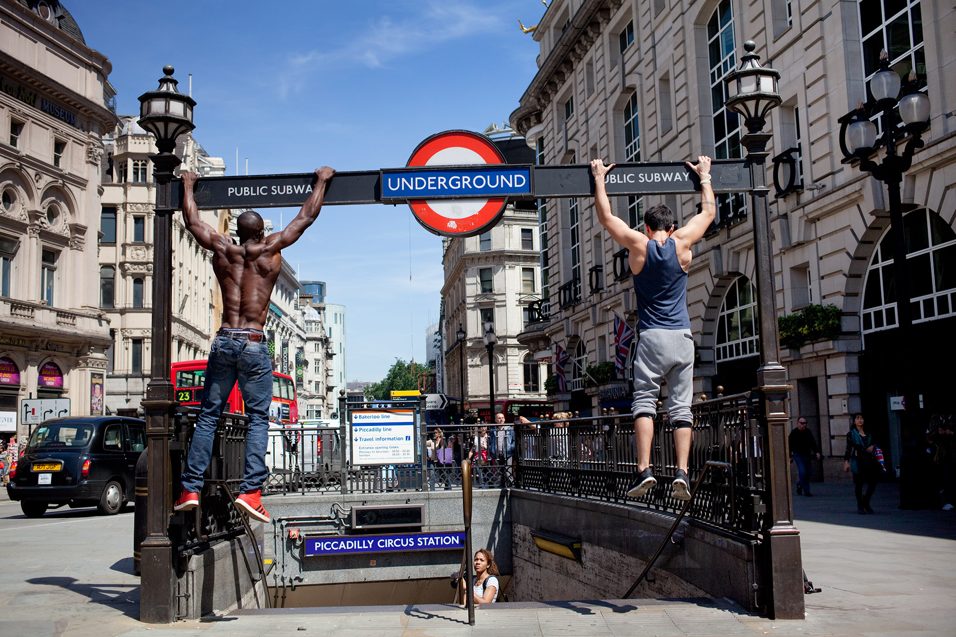 Piccadilly Circus project by Street Photographer Nick Turpin