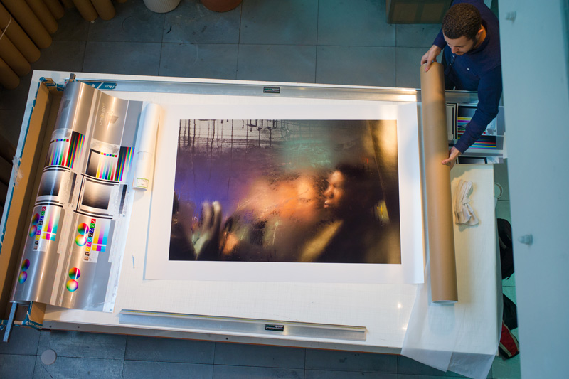 Nick Turpin print at the printspace