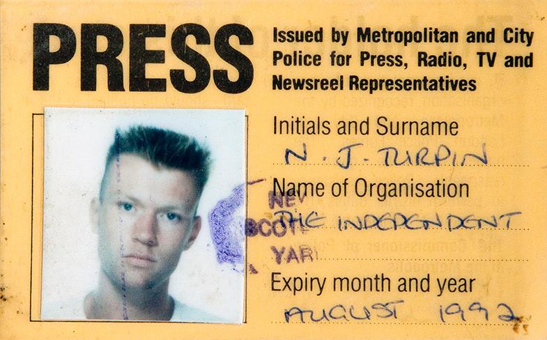 Nick Turpin press pass